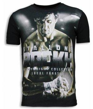Local Fanatic Rocky Heavyweight - Strass T-shirt - Schwarz