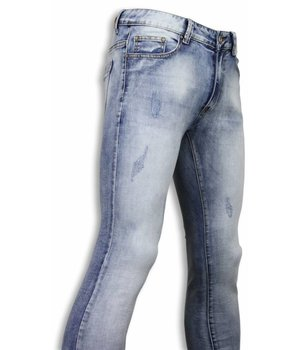 DKLIC Jeans Basic Jeans - Light Blue Damaged Slim Fit - Licht Blauw