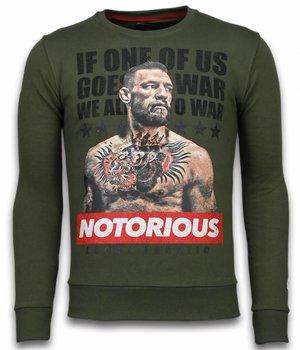 Local Fanatic Conor McGregor - Strass Sweater - Grün