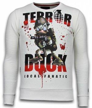 Local Fanatic Terror Duck - Strass Sweater - Weiß