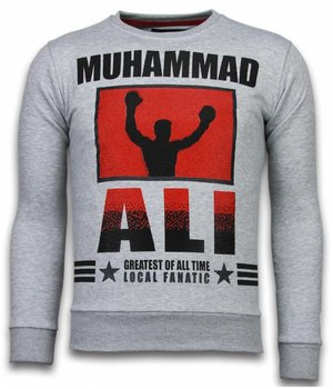 Local Fanatic Muhammad Ali - Strass Sweater - Grau