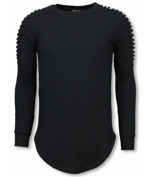 Uniplay Longfit Sweater - Biker Schulter - Schwarz