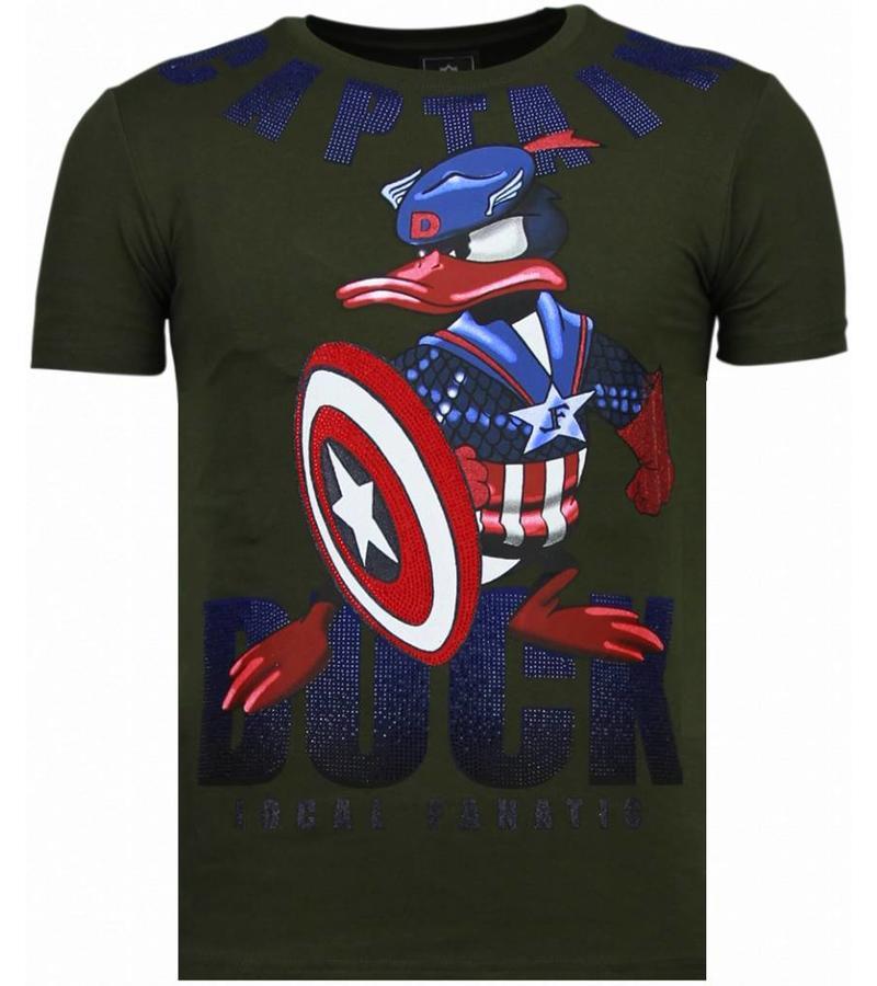 Local Fanatic Captain Duck - Strass T-shirt - Grün