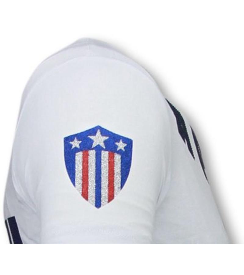 Local Fanatic Captain Duck - Strass T-shirt - weiß