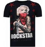 Local Fanatic Marilyn Rockstar - Strass T-shirt - Blau