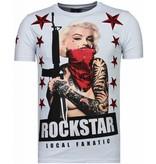 Local Fanatic Marilyn Rockstar - Strass T-shirt - weiß