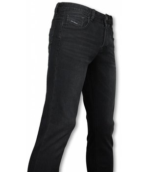 Orginal Ado Exklusive Basic Jeans - Regular Fit Casual 5 Pocket - Schwarz