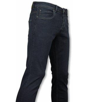Orginal Ado Exklusive Basic Jeans - Regular Fit Casual 5 Pocket - Marine