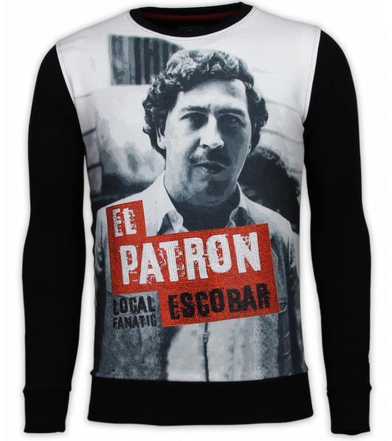 Local Fanatic El Patron Escobar - Strass Sweater - Schwarz