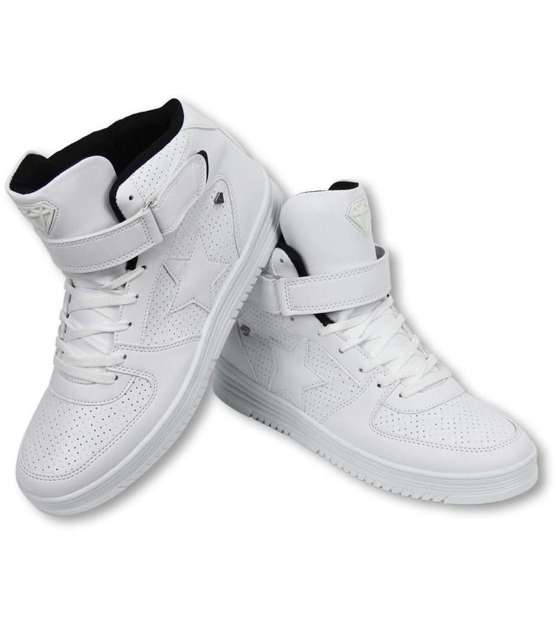 Cash Money Sneakers - Schuhe Hoch Herren - Star Weiß Schwarz