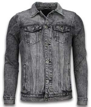 Bruno Leoni Denim Jacke Herren  - Stonewashed Look - Grau