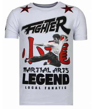 Local Fanatic Fighter Legend - Strass T-shirt - Weiß