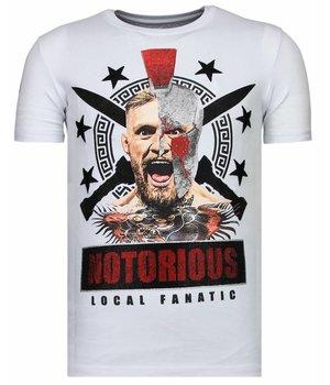 Local Fanatic Notorious Warrior - Strass T-shirt - Weiß