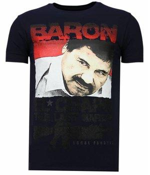 Local Fanatic Cocaine Cowboy - Strass T-shirt - Blau
