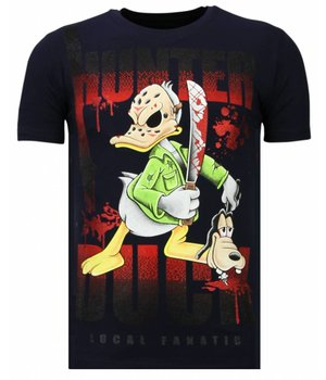 Local Fanatic Hunter Duck - Strass T-shirt - Blau