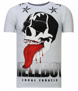 Local Fanatic Hellboy - Strass T-shirt - Weiß