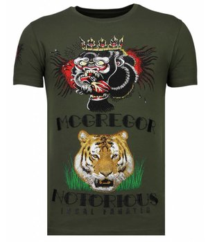 Local Fanatic McGregor Tattoo - Strass T-shirt - Grün
