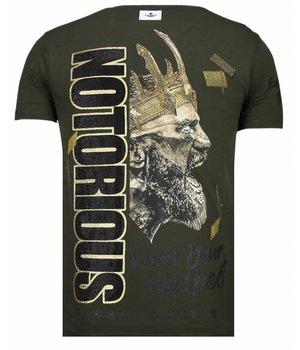 Local Fanatic Notorious King - Strass T-shirt - Grün