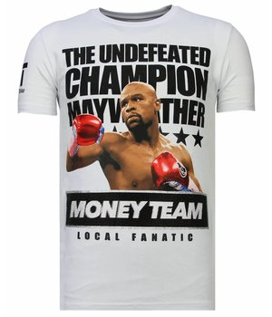 Local Fanatic Money Team Champ - Strass T-shirt - Weiß