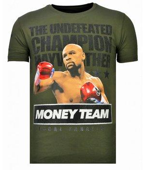 Local Fanatic Money Team Champ - Strass T-shirt - Grün
