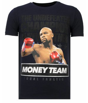 Local Fanatic Money Team Champ - Strass T-shirt - Blau