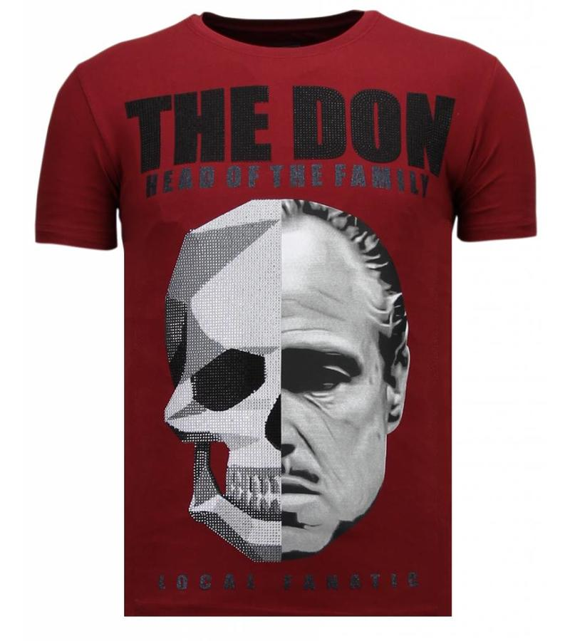 Local Fanatic The Don Skull - StrassT-shirt - Bordeaux