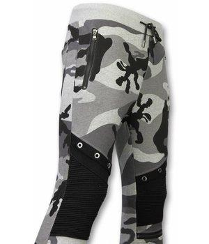 Enos Tarnung Hosen - Casual Jogginghose - Camouflage Biker - Grau
