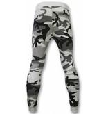 Enos osen - Casual Jogginghose - Camouflage Biker - Grau