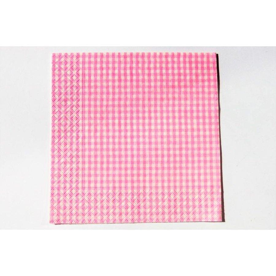 Serviette Vichkaro rosa -  für Decoupagetechniken auf Holz oder Pappmaché