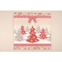 Serviette Weihnachtsbäume -  für Decoupagetechniken auf Holz oder Pappmaché