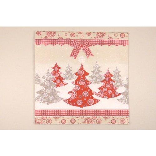 Serviette Weihnachtsbäume