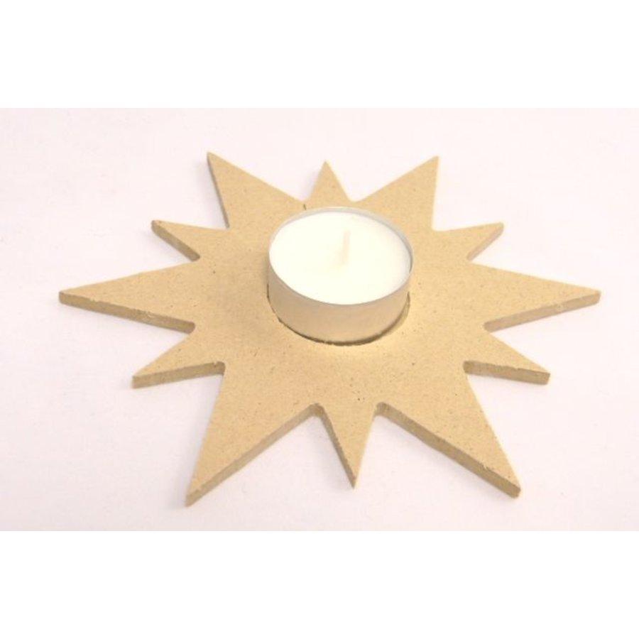 MDF Stern für Teelichter