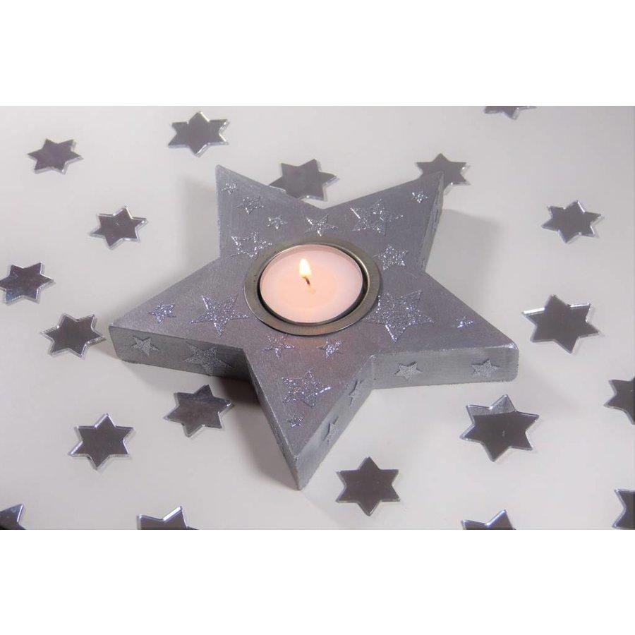 Stern aus MDF für Teelichter