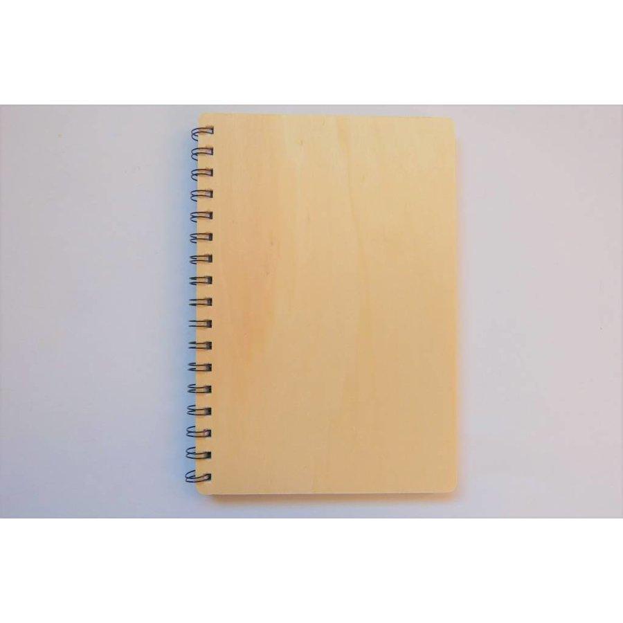Notizbuch Spiralbindung mit Holzdeckel