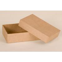 Rechteckige Box aus Pappmache
