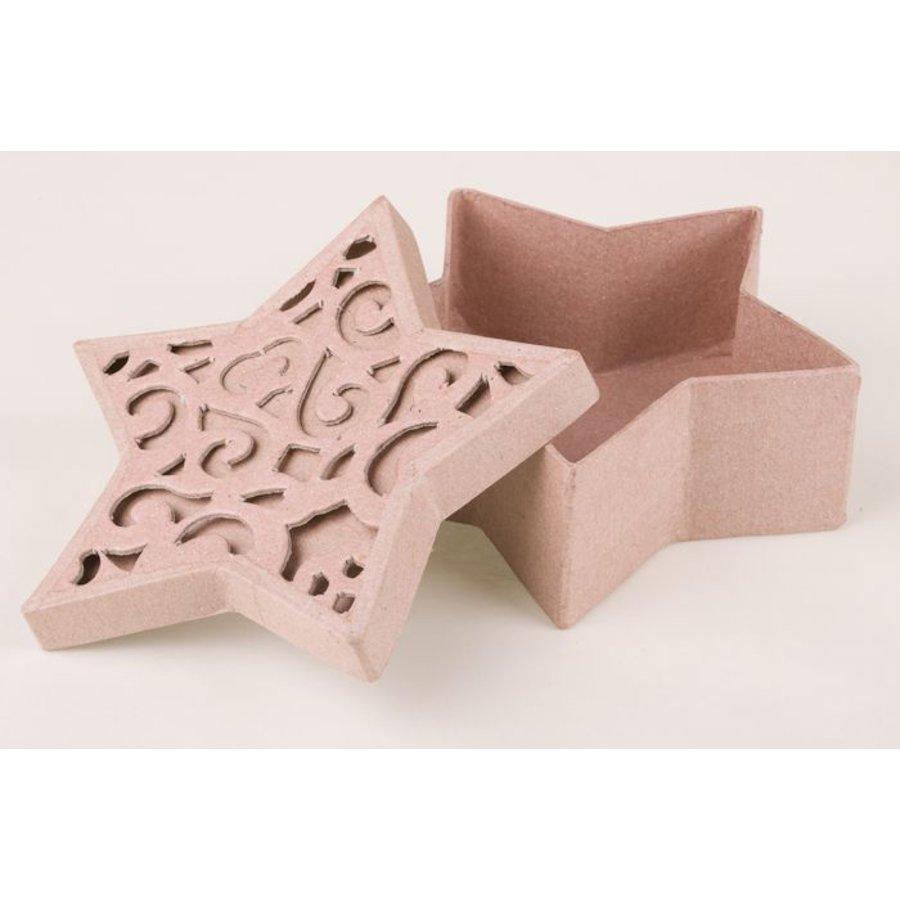 Ornamentbox Stern aus Pappmache