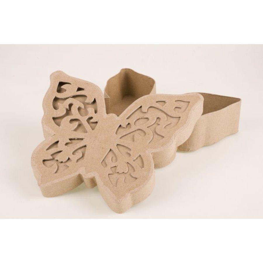 Ornamentbox Schmetterling aus Pappmache