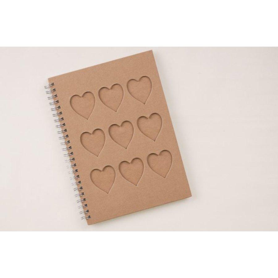 Notizbuch mit Herzen Din A5 Spiralbindung