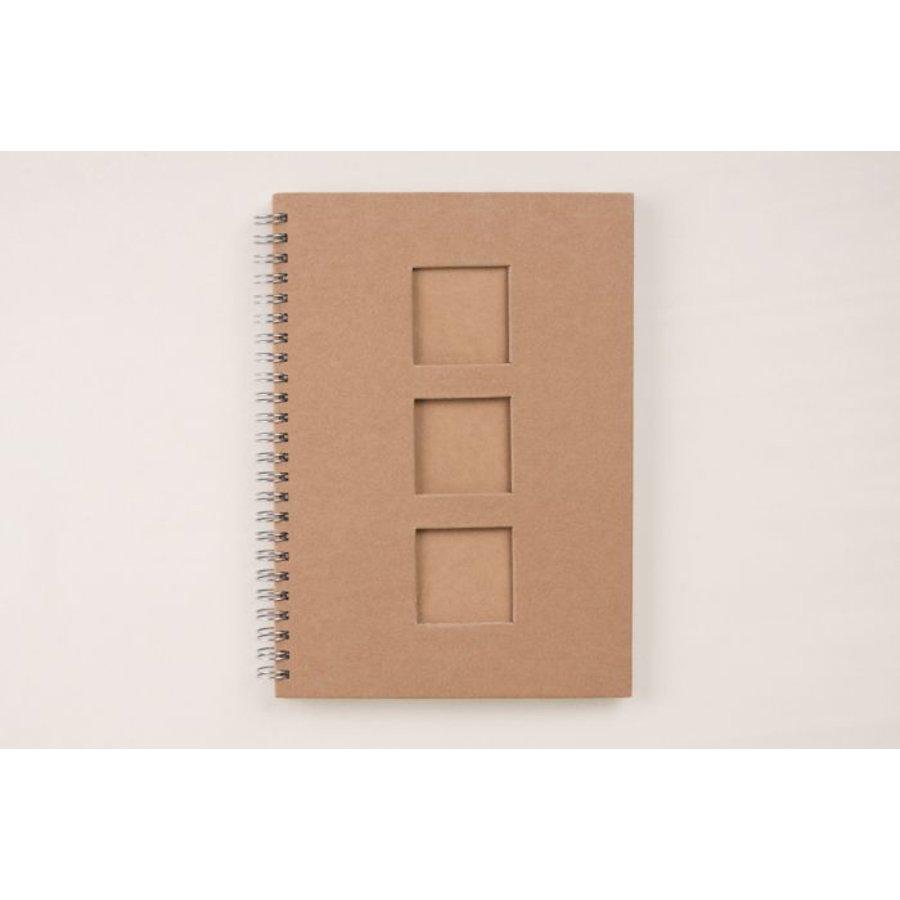 Notizbuch mit Quadraten Din A5 Spiralbindung