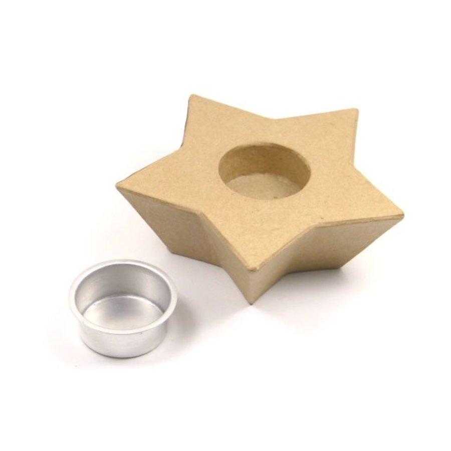 Teelichthalter Stern aus Pappmache