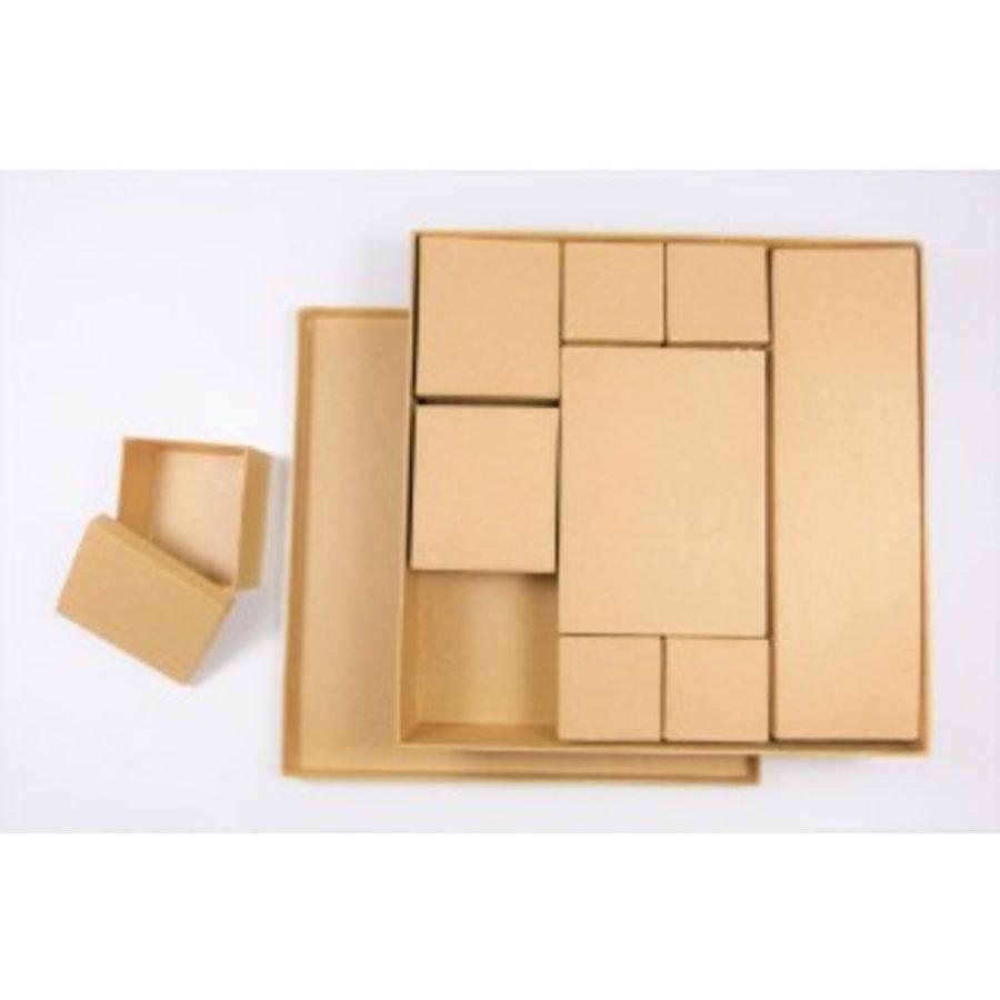 Schachtelset – Quadrat - 10teilig