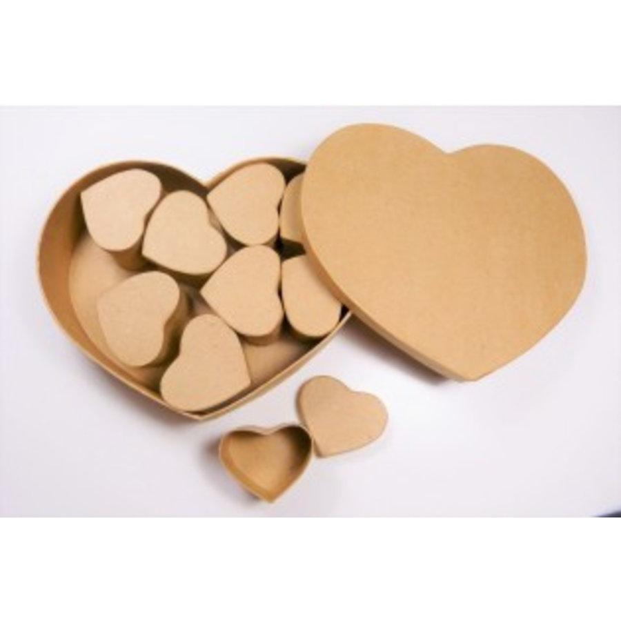 Schachtelset – Herzen - 10teilig