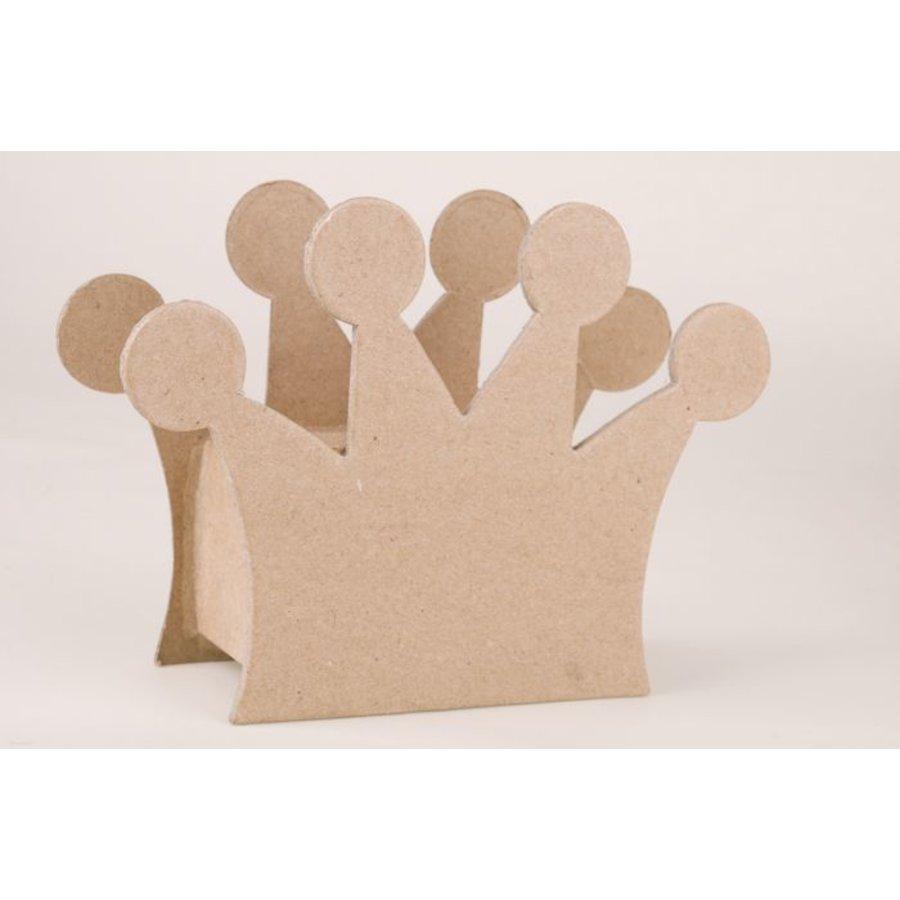 Spardose Krone aus Pappmache