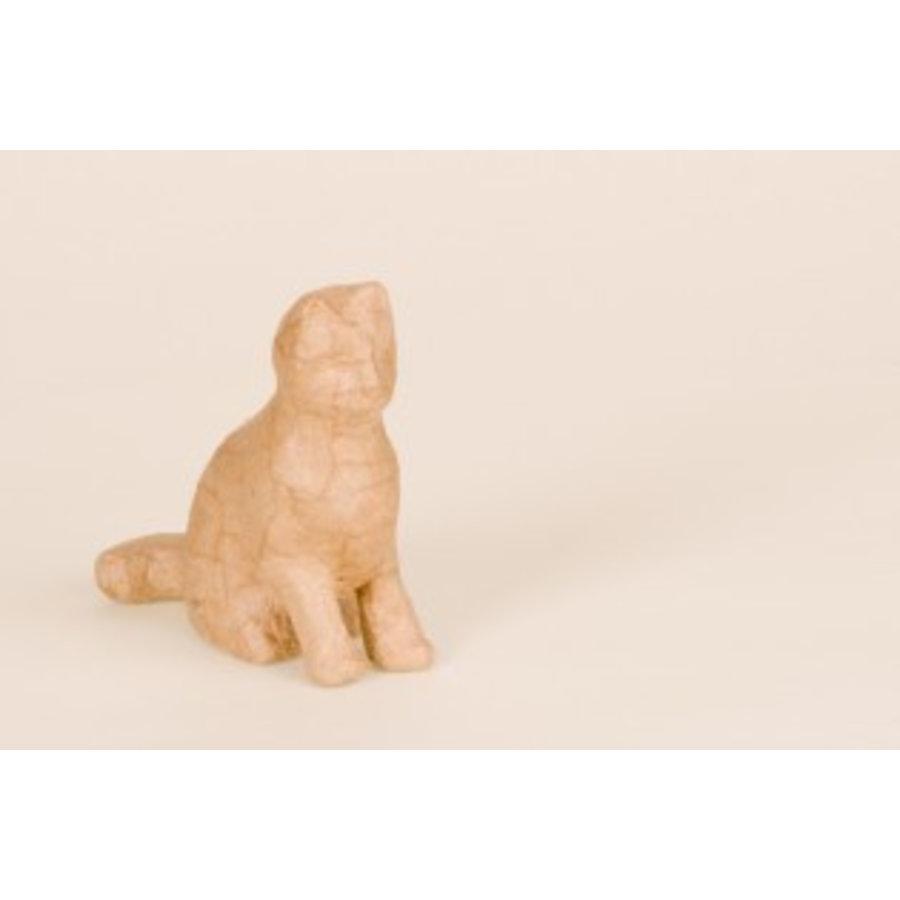 Katzenfigur aus Pappmache