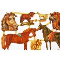 Vintage-Glanzbilder Pferde