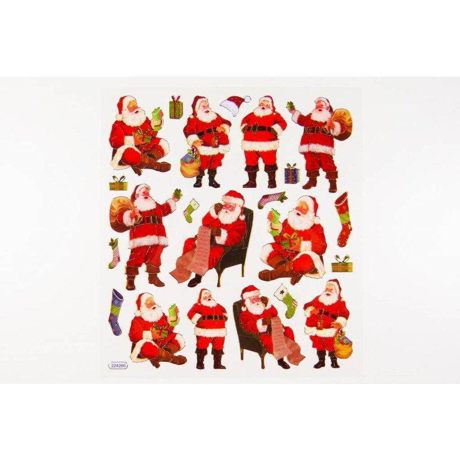 Selbstklebende Sticker Weihnachtsmann