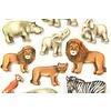 Selbstklebende Sticker Zootiere groß
