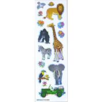 Selbstklebende Sticker Zootiere klein