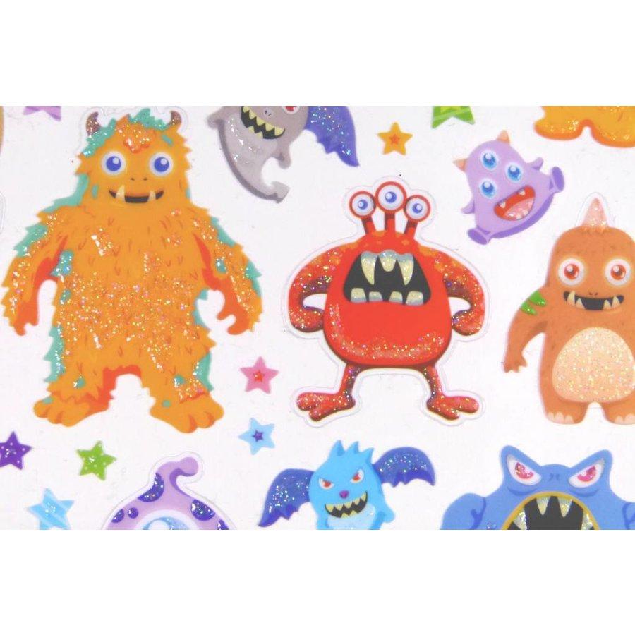 Selbstklebende Sticker Monster