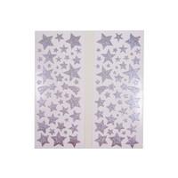 Selbstklebende Sticker Sterne in silber